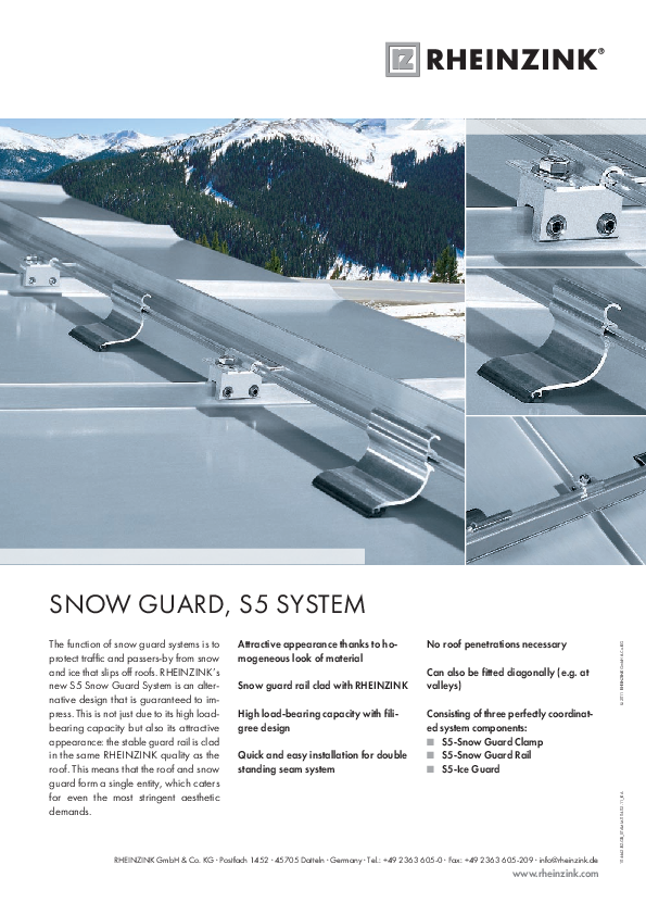 Snow Guard, S5 System