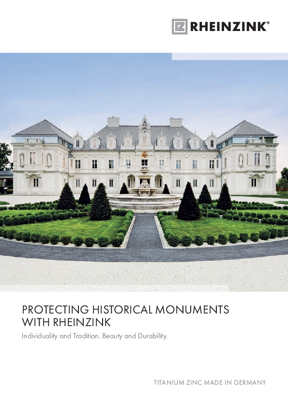 Protecting Historical Monuments with RHEINZINK